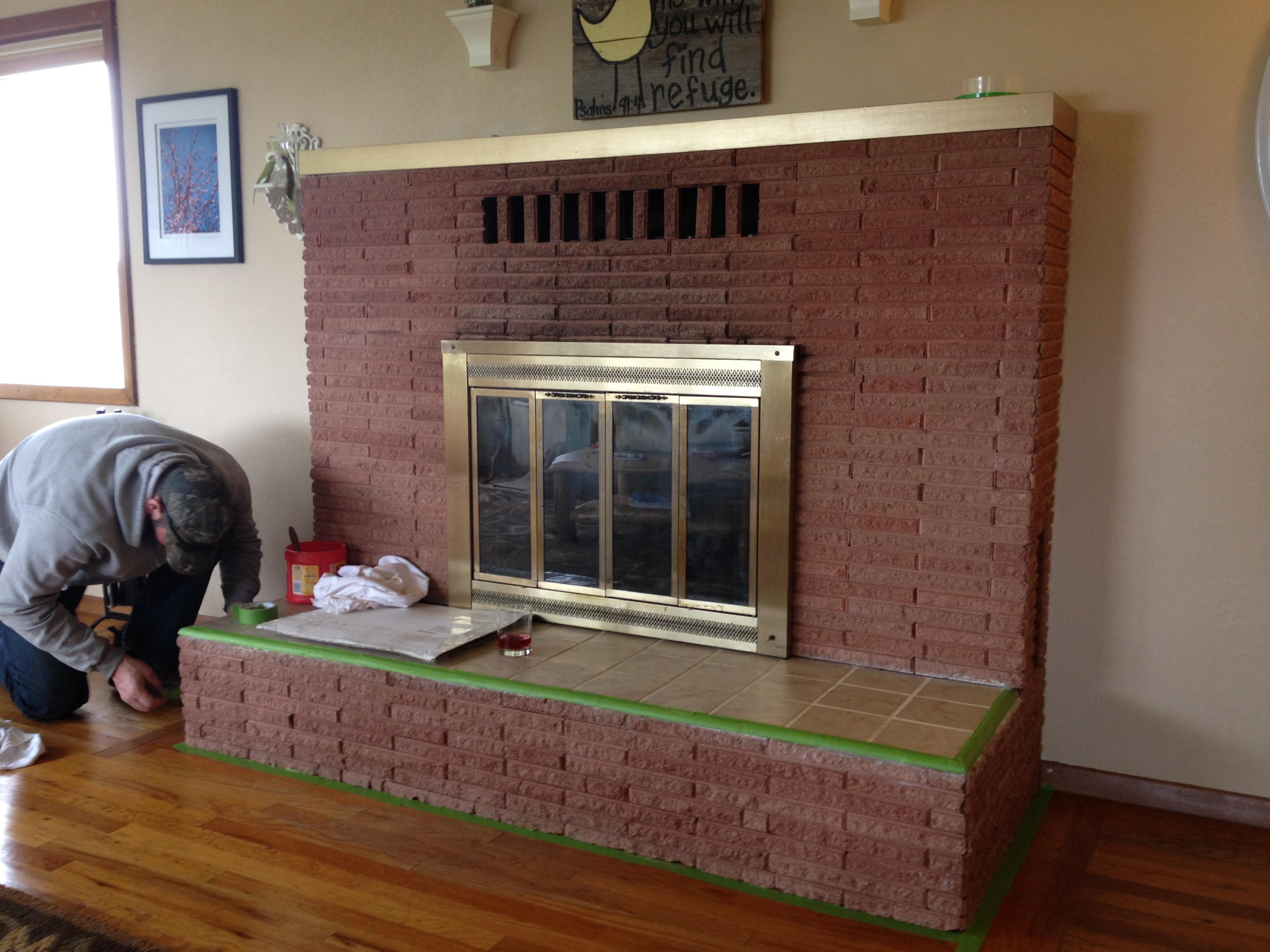 painted brick fireplace makeover how tos diy original how to