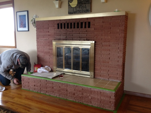 Fireplace makeover: before